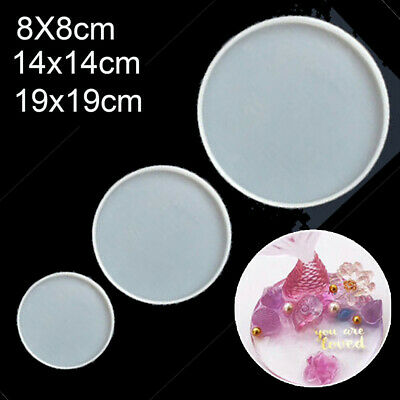 1Pcs Round Epoxy Resin Molds For DIY Coasters Silicone Jewelry Making Mould