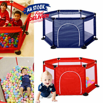 Play Pen Children Kids Playpen Safety  Baby Toddler Stable Gate Indoor ACB#
