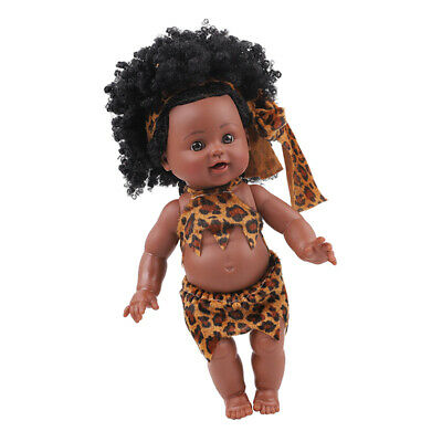 12/'/' Cute Lifelike Vinyl Baby Newborn Girl Baby Doll With Afro Curly Hair
