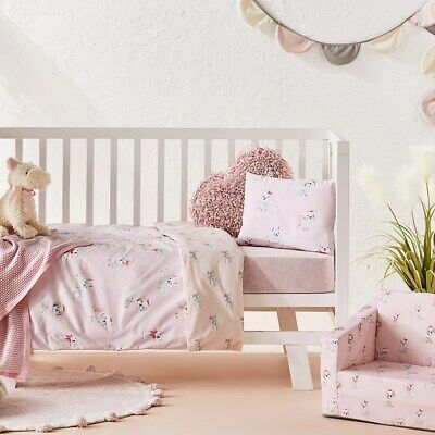ADAIRS KIDS Sweet Puppy dog COT (Jnr Bed) QUILT COVER SET BNIP pink bows