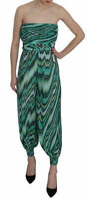 MISSONI Mare Jumpsuit Zig-Zag Green Patterned Strapless IT40 / US6 / S RRP $1000
