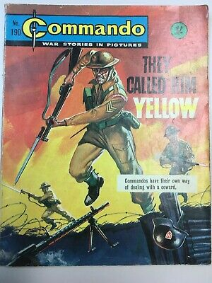 """Commando Comic # 190 from 1965 """"They Called Him Yellow""""   Very Good Condition"""