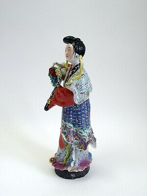 Fine antique Chinese famille rose porcelain figure of a Lady c.1900