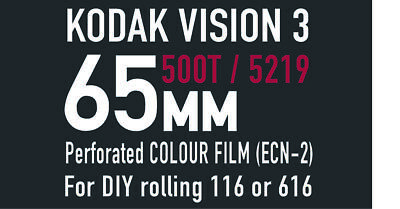 Kodak Vision3   65mm 500T / 5219 motion picture film for 166 / 616 DIY rolling