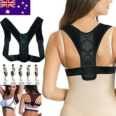 Adjustable Therapy Posture Corrector Clavicle Back Support Brace Belt 26-40 inch
