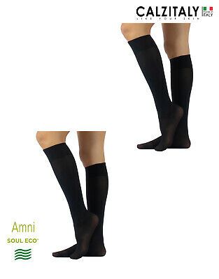 Pack 2 Pairs Opaque Stretchy Biodegradable Knee-High Socks, Eco-Friendly Style