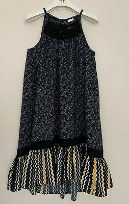 Girls NEXT Age 6 Years Maxi Dress Navy Blue Floral Sleeveless
