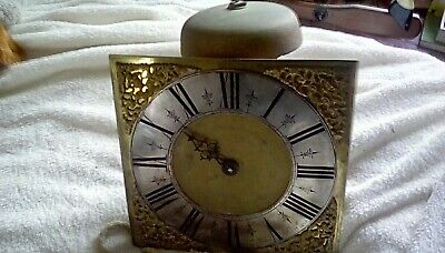 longcase grandfather clock movement by Humphrey Marsh of Highworth early 18th c