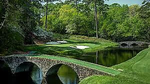 1 2 3 4 MASTERS Augusta 2020 Ticket MONDAY Badge 4/6 MONDAY Full Day IN HAND