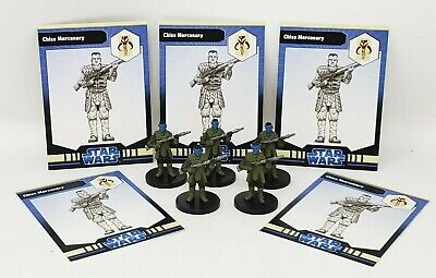 """Wizards of the Coast Star Wars Miniature Mixed Snowtrooper Lot of 5 1.5/"""" RPG"""
