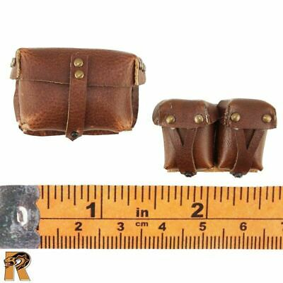 Leather Pouches x3-1//6 Scale Female Auto Mechanic Star Man Action Figures