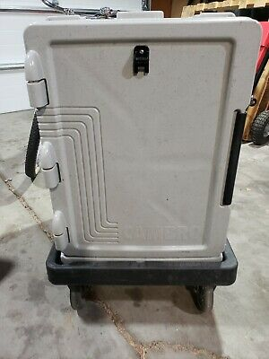 Cambro Front Load GoBox Insulated Food Pan Carrier with Camdolly w/2 hotplates