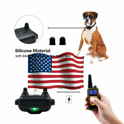 Dog Shock Training Collar Rechargeable Remote Control Waterproof 800m remote