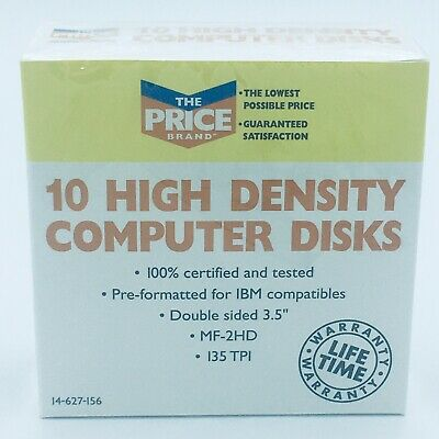 IBM Formatted Disks 3.5 Inch  Factory Sealed NEW
