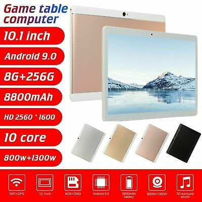 "Android 9.0 10.1"" Tablet PC 8+256G 512G 4G Wifi Octa-Core Dual SIM Phablet Lot"