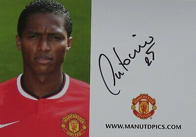 Antonio Valencia Hand Signed 6 x 4  Club Card Autograph Manchester United