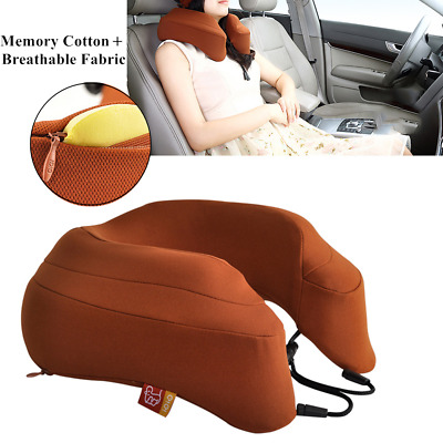 Travel Pillow Memory Foam Neck Pillow Soft & Breathable Washable Airplane Travel