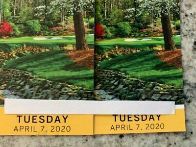 2 MASTERS Augusta 2020 Ticket TUESDAY Badge 4/7 TUESDAY Full Day IN HAND