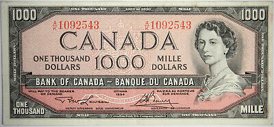1954 Canada $1000 ~ Nice Canadian Vf Priced Right!