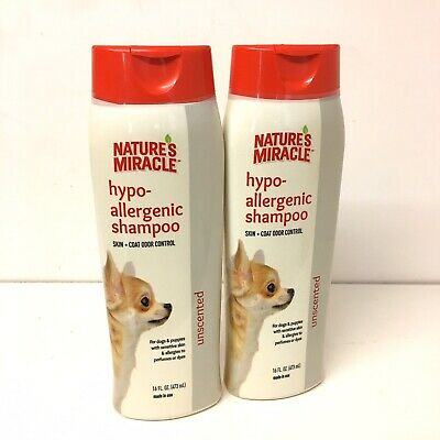 Natures Miracle Hypo Allergenic Unscented Dog Shampoo Lot Of 2