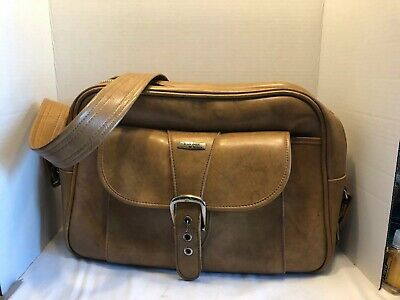 Invicta Mens Leather Carry On Duffel Bag Luggage Vintage Brown Strap