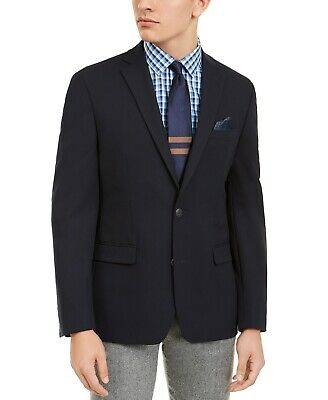 $295 Bar III Men's Slim-Fit Navy Solid Blazer Sport Coat 36R
