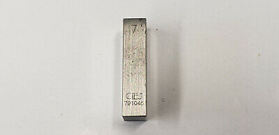 7mm CEJ Starrett Rectangle Steel Gage Gauge Block. shelf-f4 #2 webber box