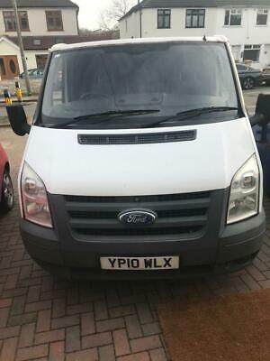 Ford white transit van