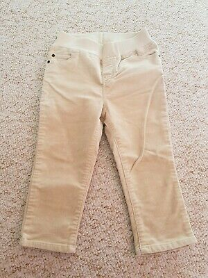 H&M Boys Girls Unisex Velvet Trousers Jeans Beige 12-18m