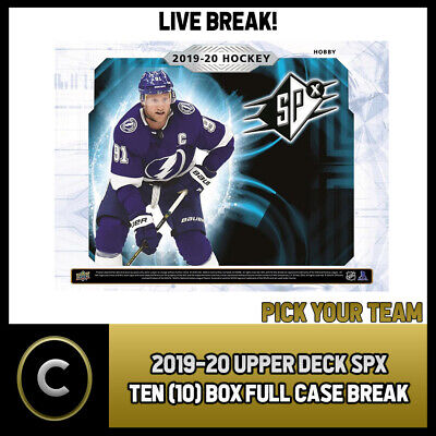 2019-20 Upper Deck Spx Hockey 10 Box (Full Case) Break #H674 - Pick Your Team