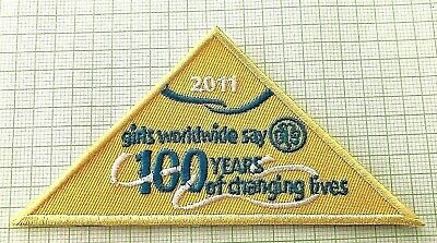 2011 Centenary Girl Guides Australia Badge: 100 Years of Changing Lives - Yellow