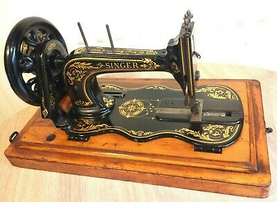 1887 Antique Singer 12k Fiddle base Hand Crank Sewing Machine