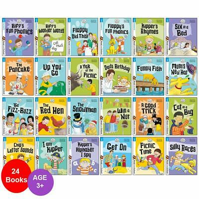 Biff, Chip and Kipper Stage 1 Read with Oxford 24 Books Collection Set PB NEW