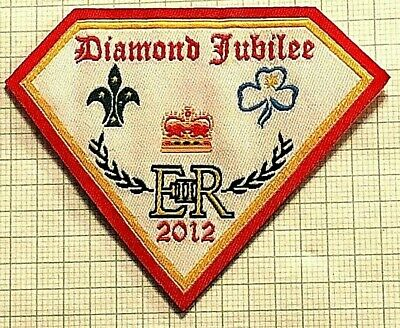 2012 QEII Queen's Diamond Jubilee Badge: Official Scouts & Girl Guides Australia