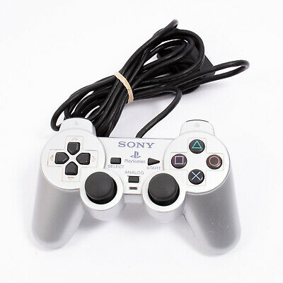 Original Official Sony PS2 Playstation 2 Wired Controller Pad Silver - FAULTY