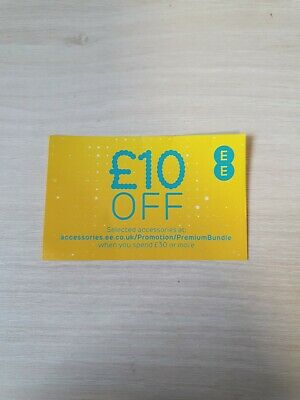 £10 Off When you Spend £30 or more EE Accessories Voucher (Code Through Post)