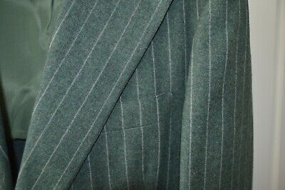 Vintage FREEDBERG OF BOSTON Suit ~~ 42R ~~ SMALL FLAW ~~ USA 100% Wool ~~Green