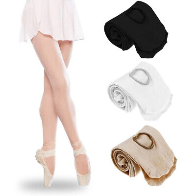 Women Girls Silky Convertible Ballet Dance Tights Transition Footed Footless