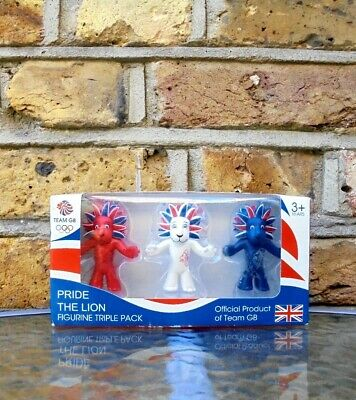 Official Team GB 2012 Olympic Pride The Lion Triple Pack NEW IN BOX