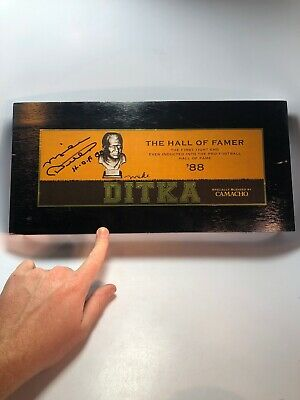 Camacho Mike Ditka Signed Cigar Box 2425/2674 ultra Limited collectors Edition!!