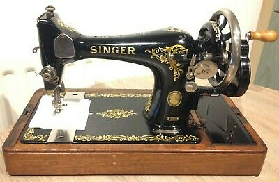 1957 Singer 128K Handcrank Sewing machine with Rococo decals