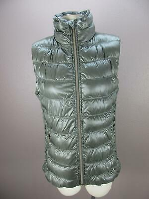 Calvin Klein Size XL Womens Gray Full Zip Insulated Down Quilted Vest 348