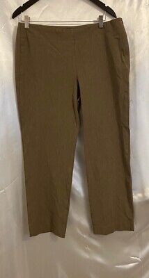 Talbots Womens Heritage Dress Career Pants Brown Pull On Stretch Petites 14P