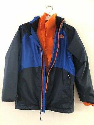 Boys The North Face Windcheater And Fleece Jacket. Size 7/8