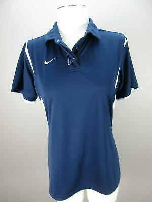 Nike Size L (12-14) Girls Youth Blue Athletic FitDry Short Sleeve Polo Shirt 364