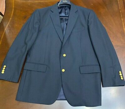 Brooks Brothers 1818 Madison Mens Blazer Sz 43R, Dark Blue Loro Piana Wool
