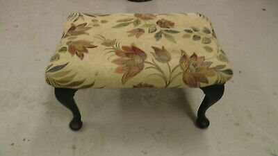 vintage antique fabric foot stool