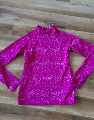 Nike Girls Pink Fitted Dri-Fit Long Sleeve Top Age 11-12 12-13 Years