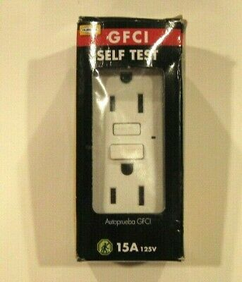 Hubbell White 15-Amp Decorator GFCI Residential/Commercial Outlet GF15WZ