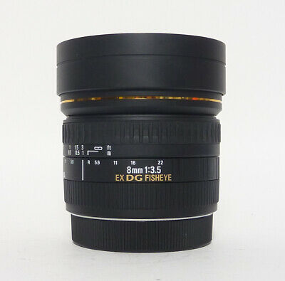 Sigma EX DG 8mm F3.5 Fisheye Lens for Canon